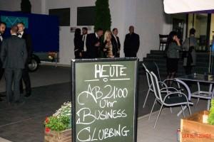 Bei sommerlichen Temperaturen und in tollem Ambiente fand das Business Clubbing statt